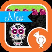 Skulls n Roses GO SMS Theme