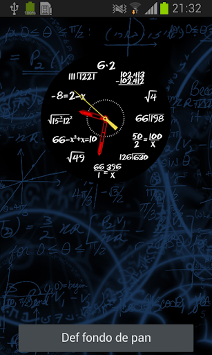 Mathematics Clock Wallpaper
