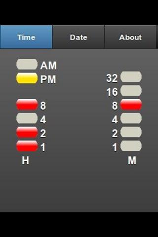BinaryClock- screenshot