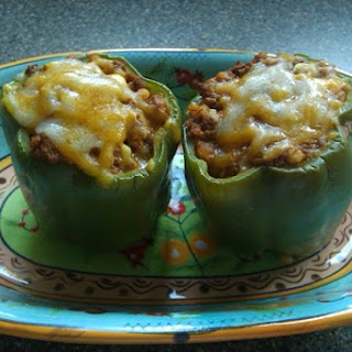 Beef And Barley Stuffed Peppers