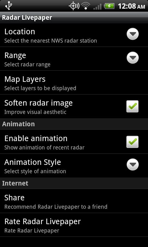 Radar Livepaper Live Wallpaper - screenshot