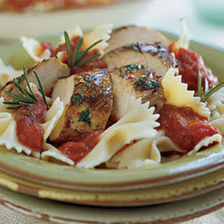 Farfalle With Herb-marinated Grilled Chicken.