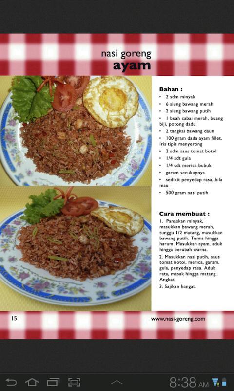 Cara Membuat Nasi Goreng Dalam Bahasa Inggris Beserta Gambarnya