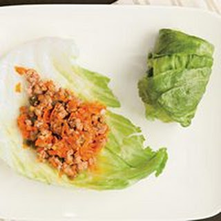 Teriyaki Turkey Lettuce Wraps.