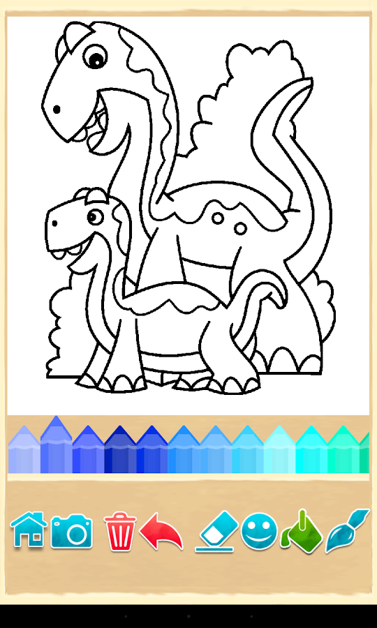 Dino Coloring Game - screenshot
