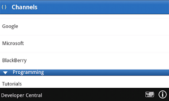 Screenshot of Developer Central