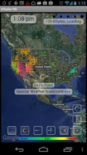 eRadar HD and weather alerts - screenshot thumbnail
