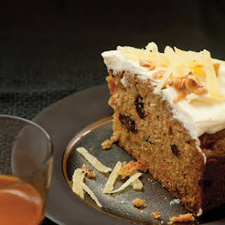 Sweet Potato Spice Cake with Hazelnuts and Candied Ginger.