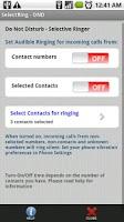 Screenshot of SelectRinger - Do Not Disturb
