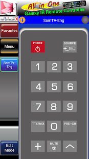 MyRemoconX Universal IR Remote - screenshot thumbnail