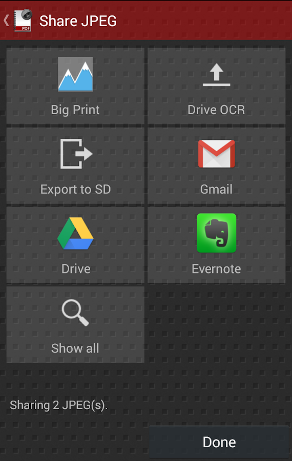 Droid Scan Lite Open Beta - screenshot