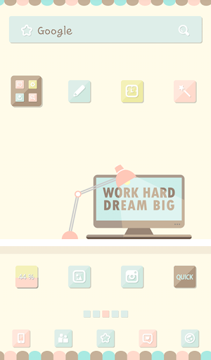 Work Hard Dream Big 도돌런처 테마
