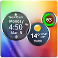 App Rings Digital Weather Clock APK for Kindle