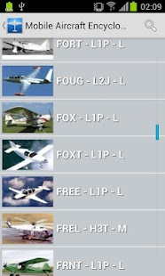 Mobile Aircraft Encyclopedia- screenshot thumbnail