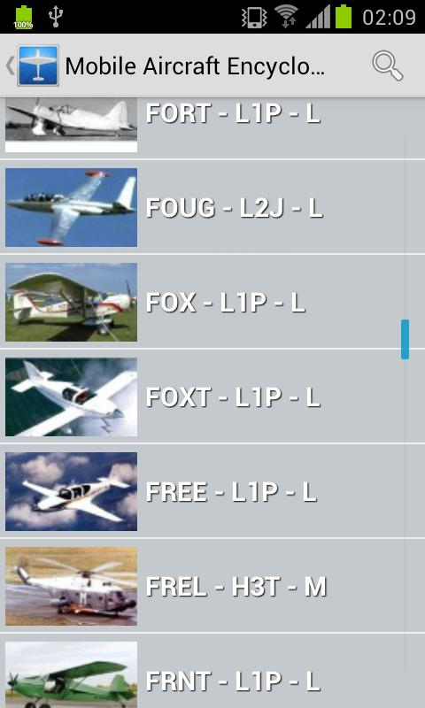 Mobile Aircraft Encyclopedia - screenshot