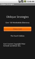Screenshot of Deprecated-Oblique Strategies