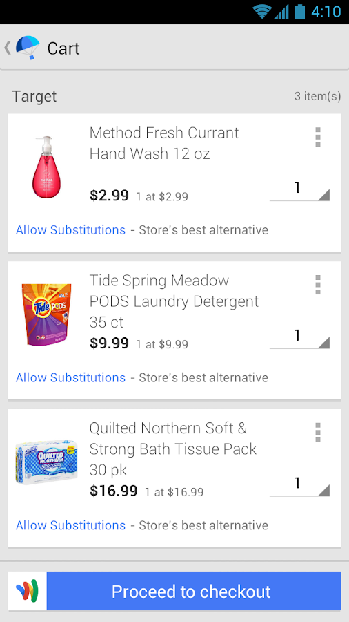 Google Shopping Express - screenshot