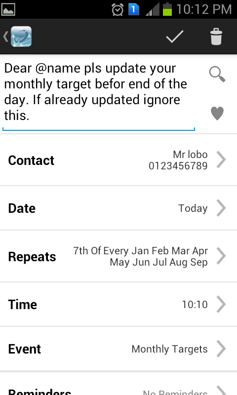 Aapi SMS Scheduler- screenshot