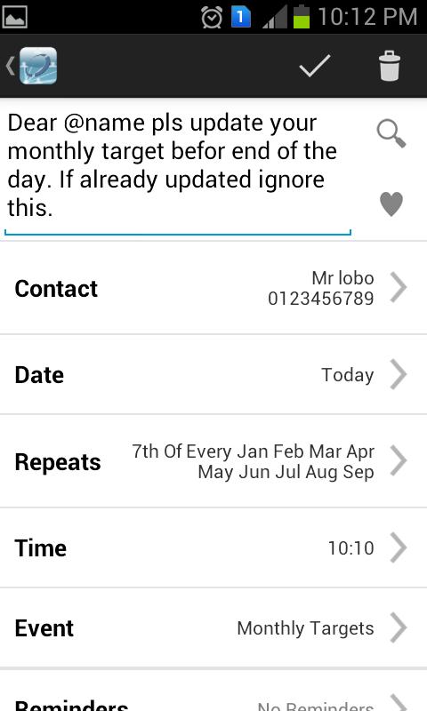 Aapi SMS Scheduler - screenshot