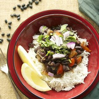 Cuban Black Beans on Rice
