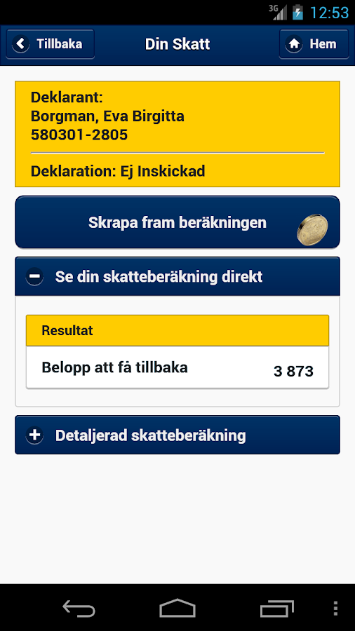 Skatteverket - screenshot