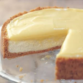 Goat Cheese-Lemon Cheesecake.