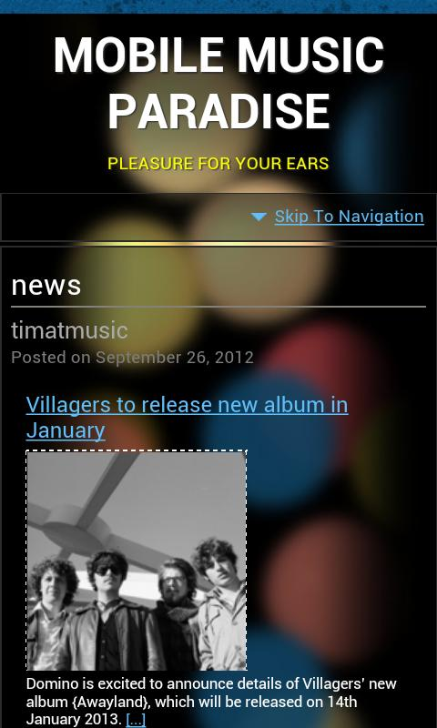 Music Paradise App - screenshot