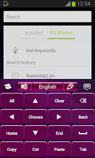 Keyboard for Android Purple - screenshot thumbnail
