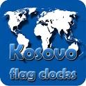Republic of Kosovo flag clocks icon