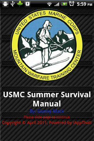 USMC Summer Survival Manual- screenshot
