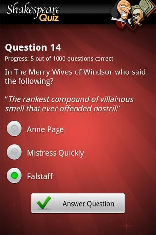 FreePlay Shakespeare Quiz- screenshot
