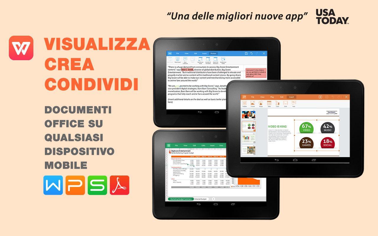 WPS Office: PPT, DOC, XLS, PDF - screenshot