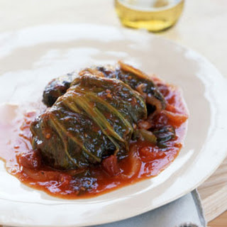 Sweet-and-Sour Stuffed Mustard Cabbage.