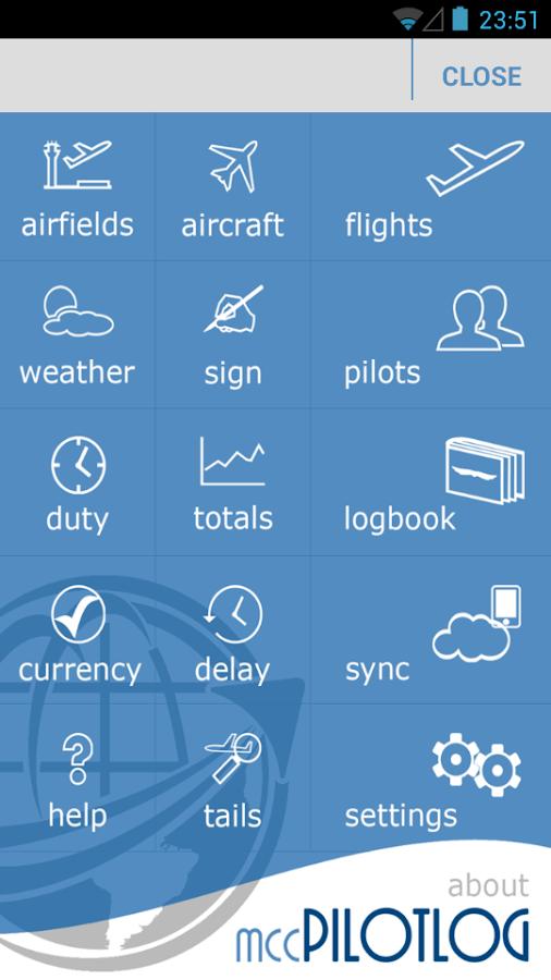 mccPILOTLOG- screenshot