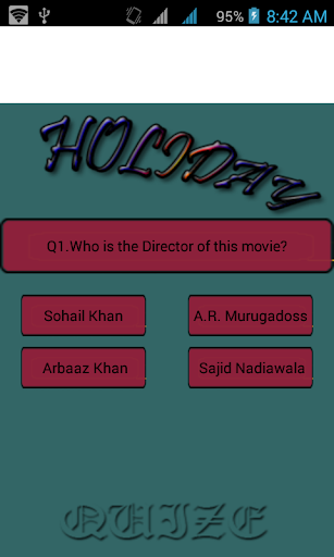 Holida---- movie quize