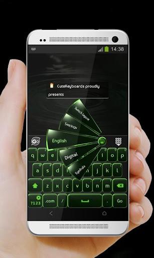 黑色和綠色 GO Keyboard