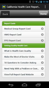 CA Health Care Report Card - screenshot thumbnail