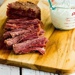 Pressure Cooker Corned Beef with Creamy Horseradish Sauce