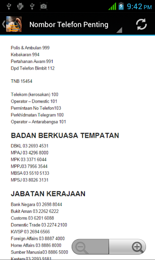 Nombor Kecemasan Malaysia