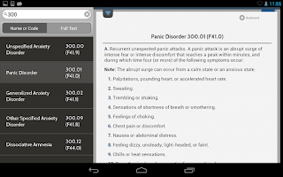 Screenshot of DSM-5 Diagnostic Criteria
