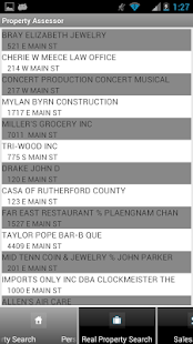 Rutherford County Assessor- screenshot thumbnail