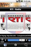 Screenshot of RTI Radio