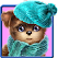 Cute dog Sweet puppy Dress up icon