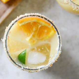 Coconut Creamsicle Margaritas.