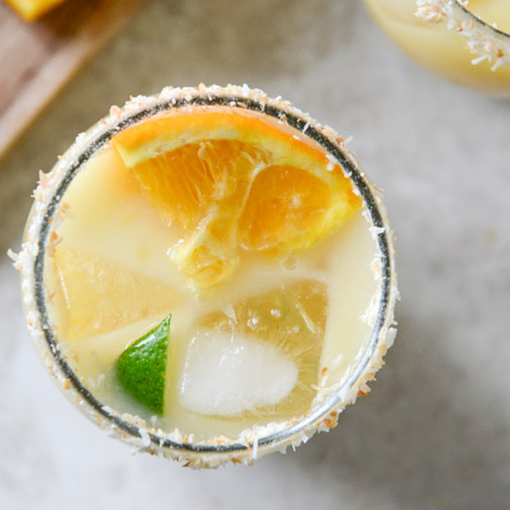 Coconut Creamsicle Margaritas
