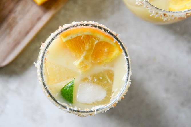 Coconut Creamsicle Margaritas Recipe