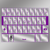 Purple Silver Keyboard Skin