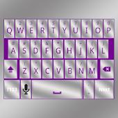 Purple Silver Keyboard Skin