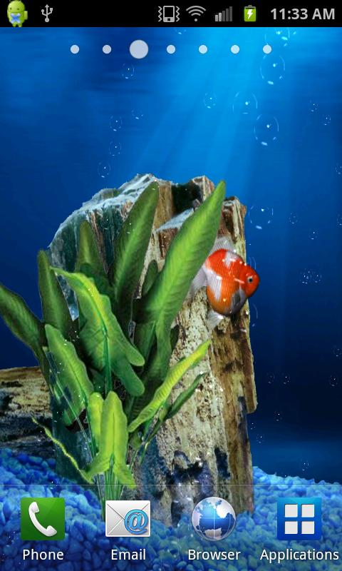 Aquarium Goldfish Live Walpapr - screenshot