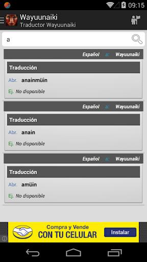 Traductor Wayuunaiki
